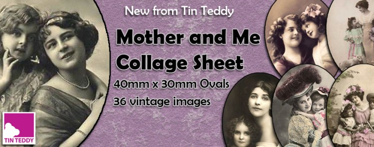 Mother and Me Ovals Collage Sheet by Tin Teddy