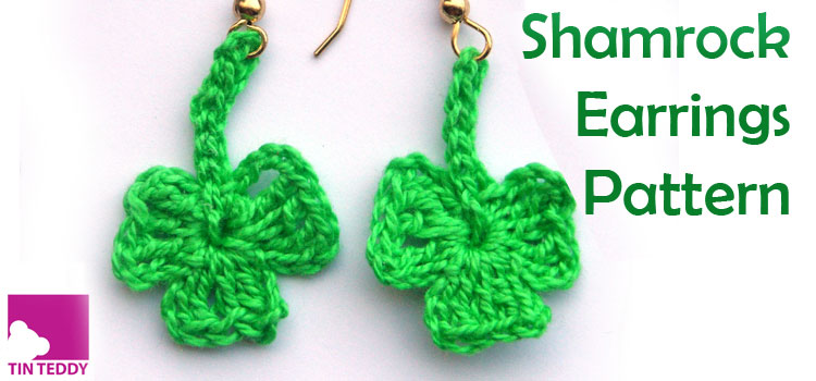 Shamrock Earrings Free Crochet Pattern – St Patrick's Day Earrings