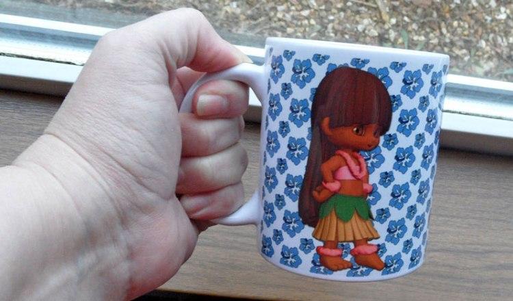 Tin Teddy Gifts Hula Girl Mug