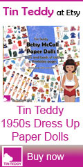 1950s Dress Up Paper Dolls - Betsy McCall Set 1 - Tin Teddy at Etsy