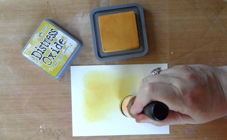 Adding Distress Oxide Ink to the Background