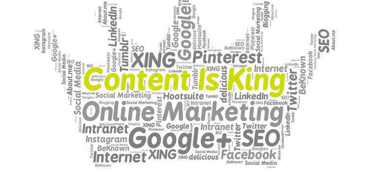 For blogging or social media - Content is King