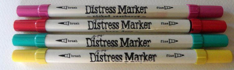 Some of my favourite Distress Marker colours