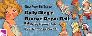 Tin Teddy Dolly Dingle Paper Dolls