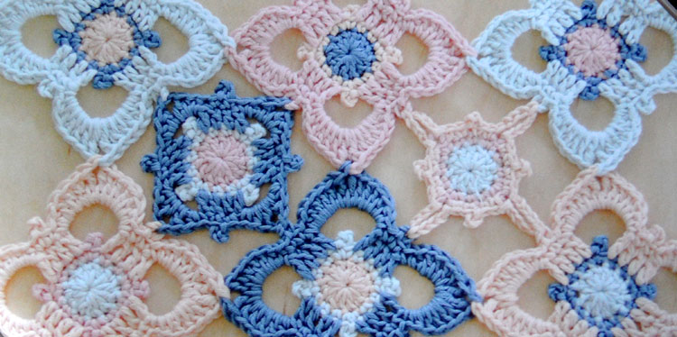 Round the Crochet Hook - String of Blossoms Table Runner