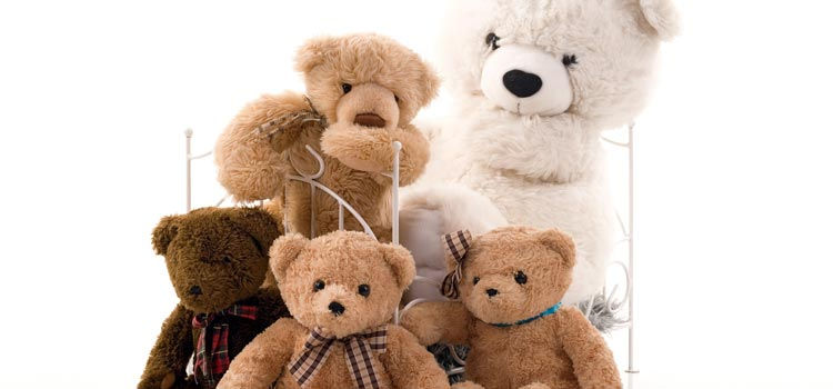 A Pile of Teddy Bears waiting to be shown off