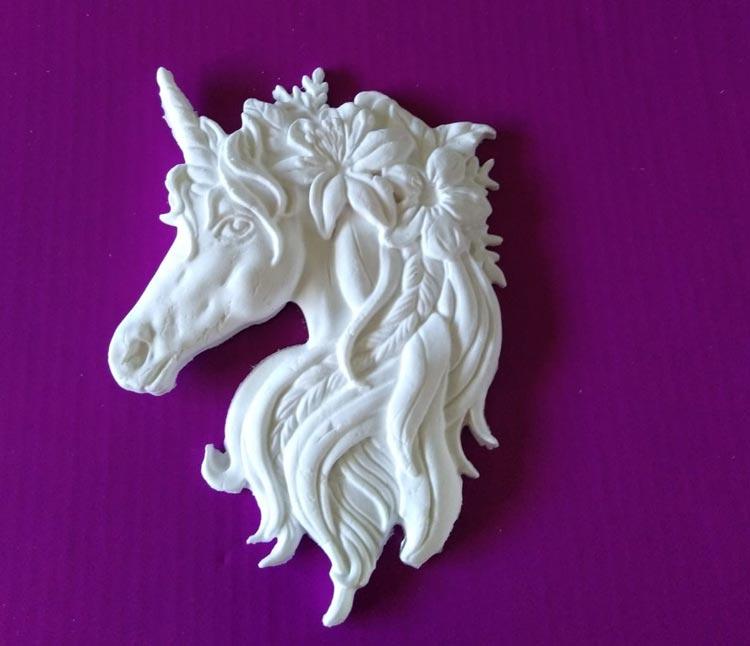 Katy Sue Unicorn Head in Fimo Air Light clay