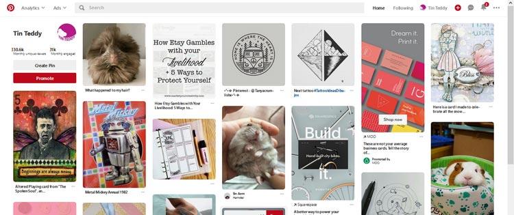 My Pinterest feed