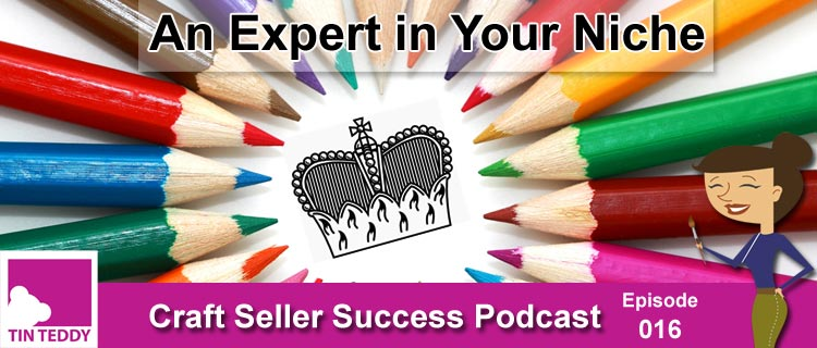 An Expert in Your Niche - Craft Seller Success Podcast Episode 016