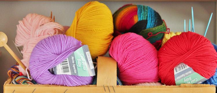 Knitting yarn in lovely colours