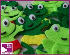 Tin Teddy Felt Frog Toppers