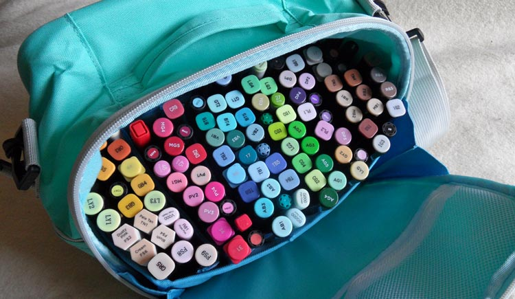 Togood Marker Storage Bag - ready to colour