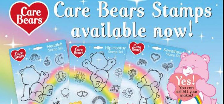 Close up of Care Bears advert from Creative Stamping