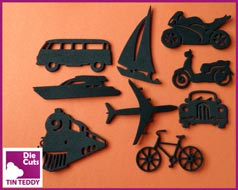 Tin Teddy Die Cuts Foam Vehicle Silhouettes