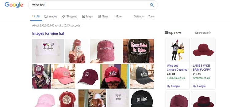 Google Search For Wine Hat
