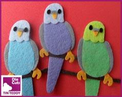 Tin Teddy Budgie Toppers - Parakeet Embellishments