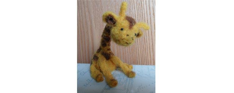 Simple needle felted giraffe