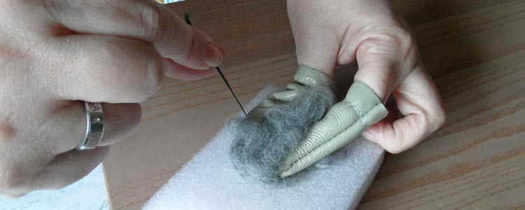 Needle Felting in action