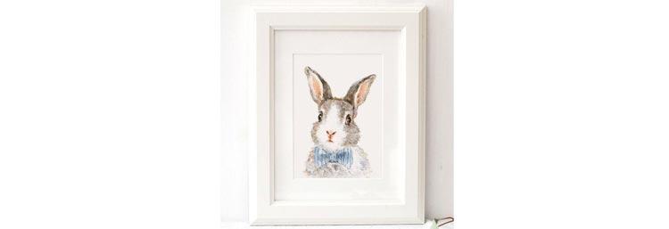Bunny Print by ElfinLilac