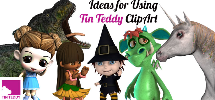 Ideas for Using Tin Teddy Clip Art images