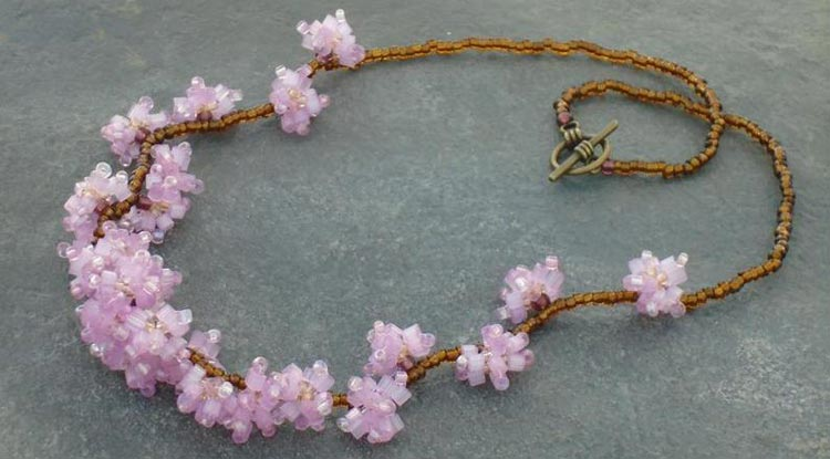 Japanese Cherry Blossom Necklace by ReweavingTheRainbow