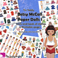 Tin Teddy Betsy McCall Paper Dolls 1