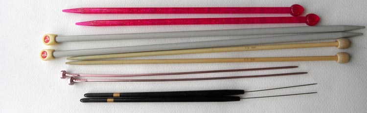 Assorted Knitting Needles