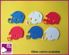 Tin Teddy Anerican Football Helmet Die Cuts
