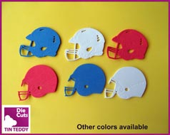 Tin Teddy Anerican Football Helmet Die Cuts