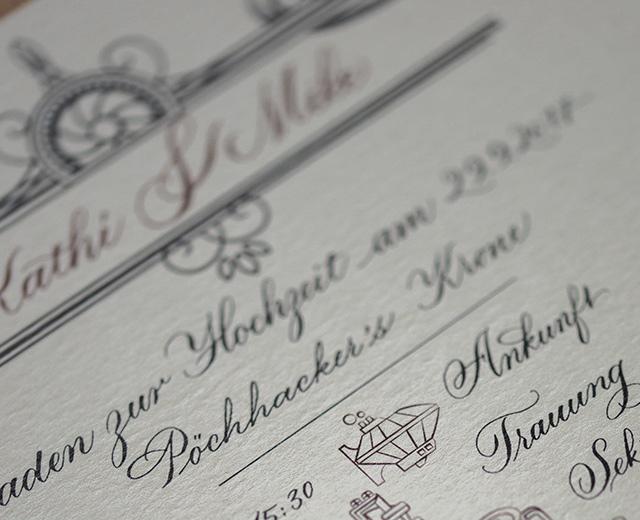 steampunk hochzeit kalligraphie