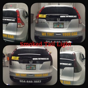 Honda CRV smoked tail lights