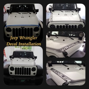 Jeep Wrangler decal installation