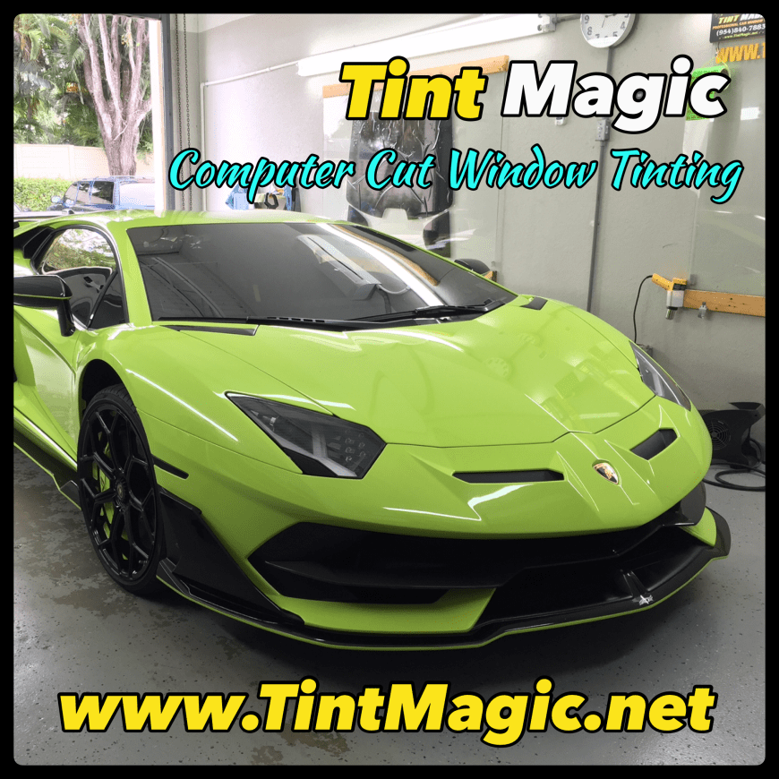 Lamborghini Aventador SVJ at Tint Magic Window Tinting