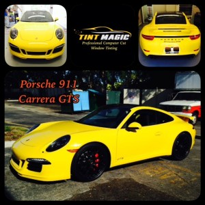 Porsche 911 Carrera GTS at Tint Magic Coral Springs