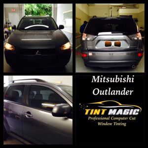 Mitsubishi Outlander at Tint Magic Window Tint