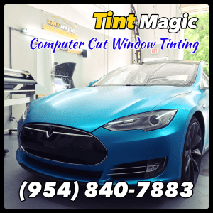 Tesla Model S Window Tint at Tint Magic Window Tinting Coral Springs
