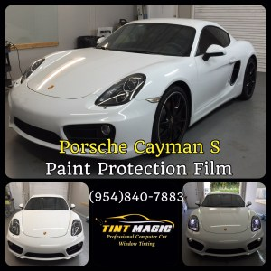 Porsche Cayman PPF at Tint magic Window Tinting