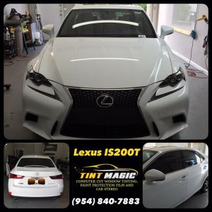 Lexus IS 200T at Tint Magic Window Tinting Coral Springs