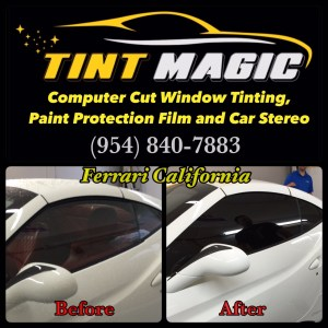 Ferrari California at Tint Magic Window Tinting-Before and After