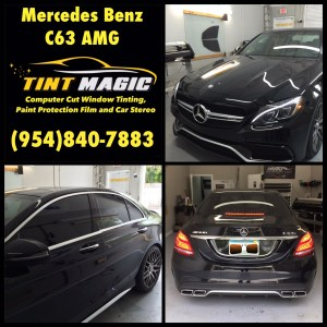 Mercedes Benz C63 AMG-Tint Magic Window Tinting