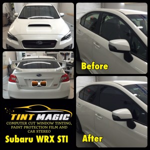 Subaru WRX STI at Tint Magic Window Tinting