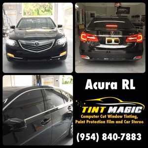 Acura RL at Tint Magic Window Tinting  serving Coral Springs, Parkland, Tamarac,Coconut Creek, Sunrise, Weston, Margate