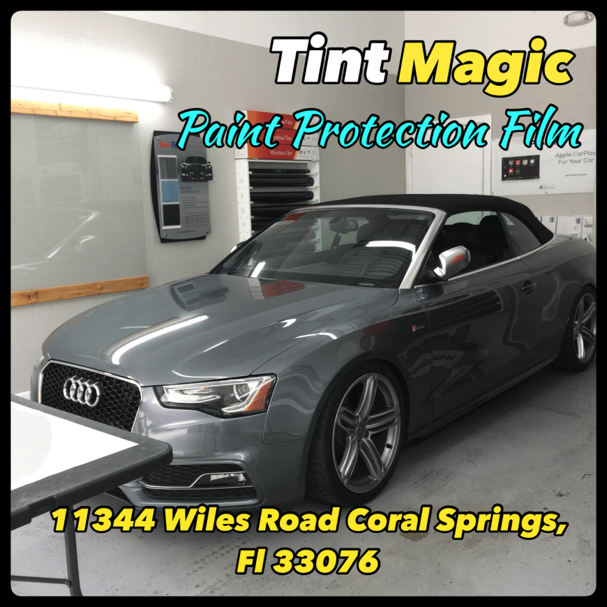Audi RS7 Paint Protection Film at Tint Magic Window Tinting