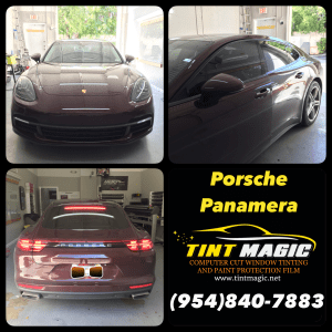 Porsche Panamera window tint at Tint Magic Window Tinting Coral Springs