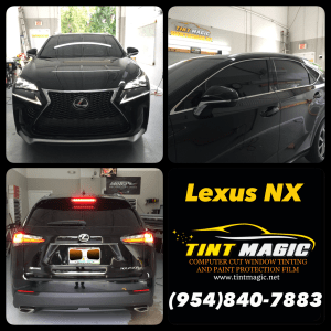 Lexus NX Window Tint at Tint Magic Window Tinting Coral Springs