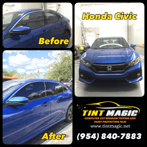 Honda Civic Window Tinting at Tint Magic Window Tinting Coral Springs