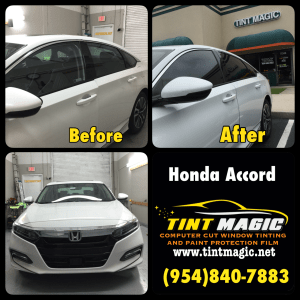 Honda Accord Window Tint at Tint Magic Window Tinting Coral Springs