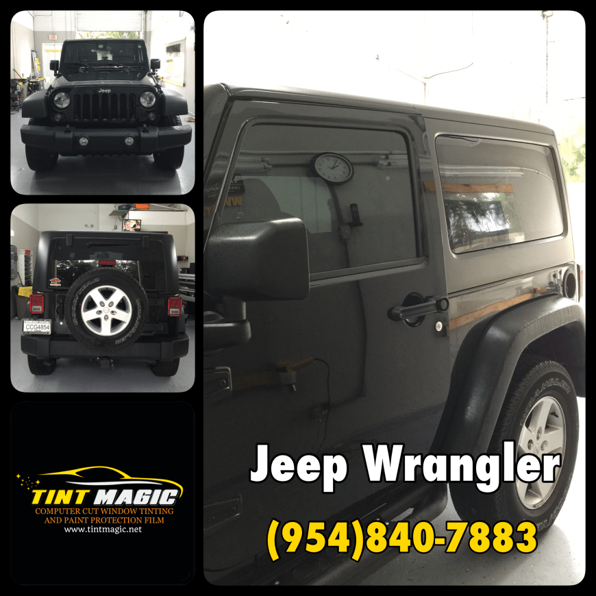 Jeep Wrangler Window Tint at Tint Magic Window Tinting Coral Springs