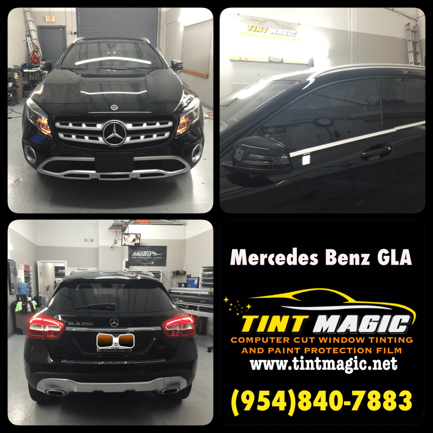 Mercedes Benz GLA Window Tinting at Tint Magic Window Tinting Coral Springs.