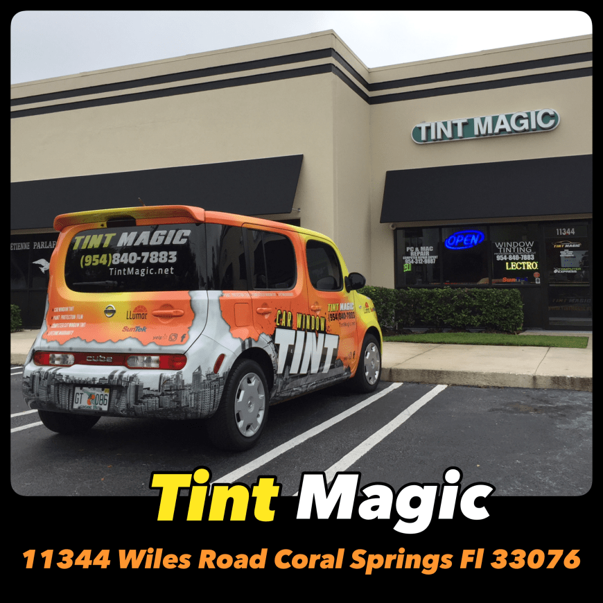 Tint Magic Window Tinting Coral Springs is located at 11344 Wiles Road Coral Springs.